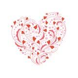 μορφή καρδιών χαιρετισμού Στοκ Φωτογραφία