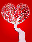 Μορφή καρδιών δέντρων Στοκ Εικόνες