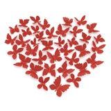 Μορφή καρδιών των πεταλούδων Στοκ Φωτογραφίες