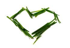 Μορφή καρδιών φιαγμένη από πράσινη χλόη Στοκ φωτογραφία με δικαίωμα ελεύθερης χρήσης