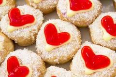 Μορφή καρδιών, doughnut Στοκ Εικόνες