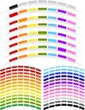 μορφή καταλόγων επιλογής κουμπιών τόξων Στοκ εικόνες με δικαίωμα ελεύθερης χρήσης