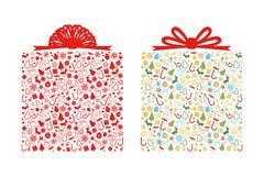 Μορφή κιβωτίων δώρων Χριστουγέννων Στοκ Φωτογραφία