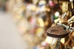 μορφή λουκέτων κλειδωμάτων καρδιών Στοκ Εικόνα