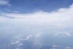 Μορφή ουρανού το αεροπλάνο Στοκ Φωτογραφίες