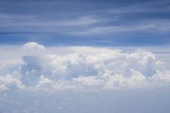 Μορφή ουρανού το αεροπλάνο Στοκ Εικόνες