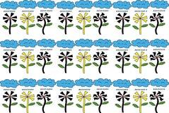 Μορφή λουλουδιών υποβάθρου εικονογράφων Στοκ εικόνες με δικαίωμα ελεύθερης χρήσης