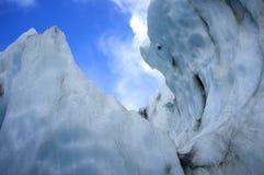 Μορφή πάγου στο Franz Josef Ice Glacier, Νέα Ζηλανδία Στοκ εικόνα με δικαίωμα ελεύθερης χρήσης