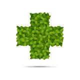 Μορφή που καλύπτεται διαγώνια στα φύλλα Ελεύθερη απεικόνιση δικαιώματος