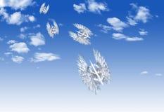 Μορφή συμβόλων νομίσματος δολαρίων σύννεφων Στοκ εικόνα με δικαίωμα ελεύθερης χρήσης