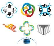 Μορφή σχεδίου λογότυπων Στοκ εικόνες με δικαίωμα ελεύθερης χρήσης
