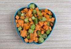 Μορφή της Apple από τα διάφορα λαχανικά Στοκ φωτογραφία με δικαίωμα ελεύθερης χρήσης