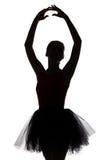 Μορφή του ballerina με τα χέρια επάνω στοκ εικόνα με δικαίωμα ελεύθερης χρήσης