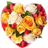 μορφή τριαντάφυλλων καρδιών σύνθεσης στοκ φωτογραφία με δικαίωμα ελεύθερης χρήσης