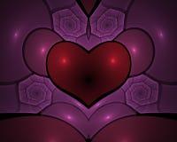 μορφή τριαντάφυλλων καρδ&iot ελεύθερη απεικόνιση δικαιώματος