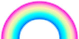 Μορφή τόξων ουράνιων τόξων, μισός κύκλος, φωτεινά χρώματα φάσματος, ζωηρόχρωμο ριγωτό σχέδιο διανυσματική απεικόνιση