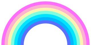 Μορφή τόξων ουράνιων τόξων, μισός κύκλος, χρώματα φάσματος νέου κρητιδογραφιών, ζωηρόχρωμο ριγωτό σχέδιο διανυσματική απεικόνιση