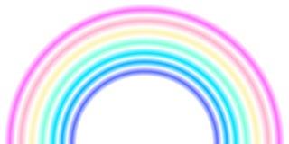Μορφή τόξων ουράνιων τόξων, μισός κύκλος, χρώματα φάσματος νέου κρητιδογραφιών, ζωηρόχρωμο ριγωτό σχέδιο ελεύθερη απεικόνιση δικαιώματος