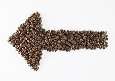 Μορφή φασολιών καφέ Στοκ εικόνα με δικαίωμα ελεύθερης χρήσης