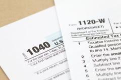 Μορφή φόρου εισοδήματος του U S Στοκ φωτογραφίες με δικαίωμα ελεύθερης χρήσης