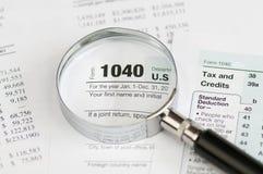 μορφή φόρου εισοδήματος 1040 Στοκ εικόνες με δικαίωμα ελεύθερης χρήσης