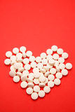μορφή χαπιών καρδιών Στοκ φωτογραφία με δικαίωμα ελεύθερης χρήσης