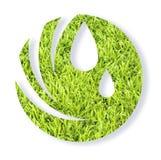 Μορφή χεριών glob με την πράσινη χλόη στοκ φωτογραφίες με δικαίωμα ελεύθερης χρήσης