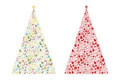 Μορφή χριστουγεννιάτικων δέντρων Στοκ Εικόνες