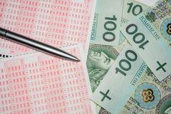 Μορφή λότο του πολωνικού νομίσματος στοκ φωτογραφίες
