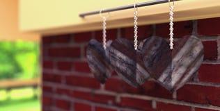 Μορφή Stone καρδιών αγάπης Στοκ Εικόνες