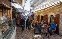 Μοστάρ, Βοσνία-Ερζεγοβίνη - τον Απρίλιο του 2019: Παλαιά πόλη του Μοστάρ,  στοκ φωτογραφίες