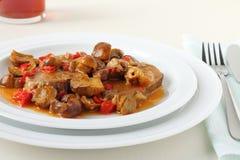 Μοσχαρίσιο κρέας με τα μανιτάρια στοκ εικόνες με δικαίωμα ελεύθερης χρήσης