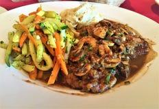 Μοσχαρίσιο κρέας Marsala στοκ φωτογραφίες με δικαίωμα ελεύθερης χρήσης