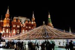 ΜΟΣΧΑ, έκθεση Χριστουγέννων στην πλατεία Manege Στοκ Εικόνα