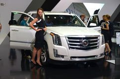 ΜΟΣΧΑ - 29 08 2014 - Αυτοκινητικό διεθνές αυτοκινητικό σαλόνι της Μόσχας έκθεσης Στοκ Εικόνα