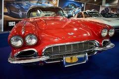 ΜΟΣΧΑ - 9 ΜΑΡΤΊΟΥ 2018: Δρόμωνας C1 1961 Chevrolet στο exhibitio Στοκ φωτογραφία με δικαίωμα ελεύθερης χρήσης