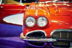 ΜΟΣΧΑ - 9 ΜΑΡΤΊΟΥ 2018: Δρόμωνας C1 1961 Chevrolet στο exhibitio Στοκ Εικόνες