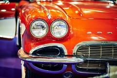 ΜΟΣΧΑ - 9 ΜΑΡΤΊΟΥ 2018: Δρόμωνας C1 1961 Chevrolet στο exhibitio Στοκ Εικόνα