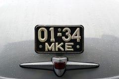 ΜΟΣΧΑ, ΡΩΣΙΑ - 16 Απριλίου 2016: εκλεκτής ποιότητας σοβιετικό αυτοκίνητο, Pobeda gaz-20M έκθεση Mosgortrans Στοκ Εικόνες
