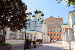 ΜΟΣΧΑ, ΡΩΣΙΑ - 11 Αυγούστου 2016: Μόσχα, οδός Pyatnitskaya, Chernigov πάροδος Στοκ Φωτογραφία