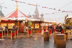 ΜΟΣΧΑ, ΡΩΣΙΑ, δίκαιος υπαίθριος Χριστουγέννων στη Μόσχα στοκ φωτογραφία