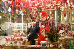 ΜΟΣΧΑ, ΡΩΣΙΑ, δίκαιος υπαίθριος Χριστουγέννων στη Μόσχα στοκ φωτογραφία με δικαίωμα ελεύθερης χρήσης