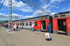 ΜΟΣΧΑ, ΡΩΣΙΑ - 17 06 2015 Εκπαιδεύστε το μεγάλο Ρώσο Στοκ φωτογραφίες με δικαίωμα ελεύθερης χρήσης
