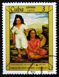 ΜΟΣΧΑ, ΡΩΣΙΑ - 15 ΙΟΥΛΊΟΥ 2017: Ένα γραμματόσημο που τυπώνεται α στην Κούβα παρουσιάζει Στοκ Εικόνα