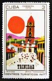 ΜΟΣΧΑ, ΡΩΣΙΑ - 15 ΙΟΥΛΊΟΥ 2017: Ένα γραμματόσημο που τυπώνεται PA στην Κούβα παρουσιάζει Στοκ φωτογραφία με δικαίωμα ελεύθερης χρήσης