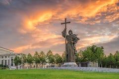 ΜΟΣΧΑ, ΡΩΣΙΑ - 15 ΙΟΥΛΊΟΥ 2017: Μνημείο στον ιερό πρίγκηπα Vlad Στοκ Εικόνες