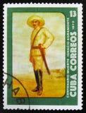 ΜΟΣΧΑ, ΡΩΣΙΑ - 15 ΙΟΥΛΊΟΥ 2017: Το σπάνιο γραμματόσημο που τυπώνεται στην Κούβα παρουσιάζει Στοκ φωτογραφία με δικαίωμα ελεύθερης χρήσης