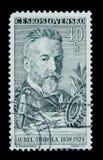 ΜΟΣΧΑ, ΡΩΣΙΑ - 20 ΙΟΥΝΊΟΥ 2017: Ένα γραμματόσημο που τυπώνεται σε Czechoslovaki Στοκ Εικόνα