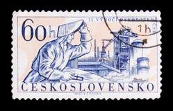 ΜΟΣΧΑ, ΡΩΣΙΑ - 20 ΙΟΥΝΊΟΥ 2017: Ένα γραμματόσημο που τυπώνεται σε Czechoslovaki Στοκ φωτογραφίες με δικαίωμα ελεύθερης χρήσης
