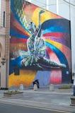 ΜΟΣΧΑ, ΡΩΣΙΑ - 19 ΙΟΥΝΊΟΥ 2017: γκράφιτι στον τοίχο Στοκ Εικόνα